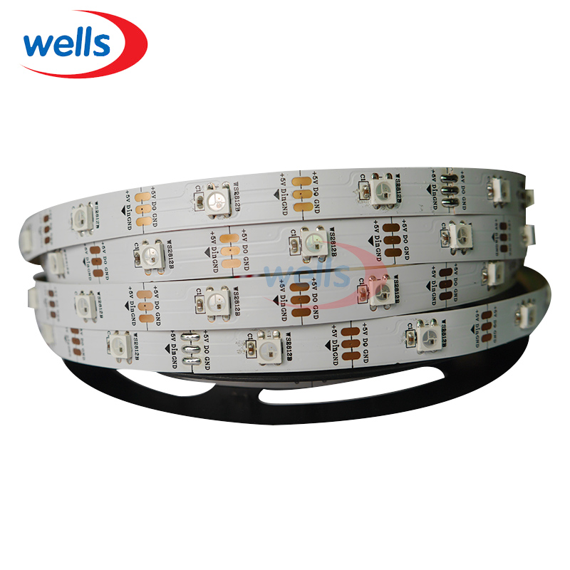 50 m 30 LED s/m ws2812b 5050 RGB individuellement adressable bande de pixel de LED intelligente WS2811 bande LED numérique lumière non-étanche DC5V