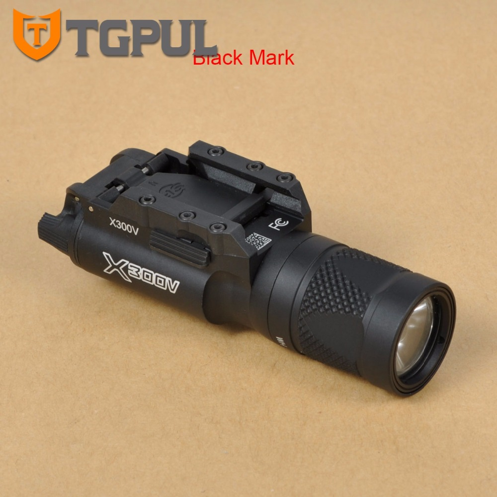 TGPUL Tactical X300V Pistol Flashlight Strobe Weapon Light LED 500 Lumens Handgun Airsoft Hunting Shooting Rail Light Best x300v led flashlight black tan color 150 lumens white light for hunting shooting cl15 0070
