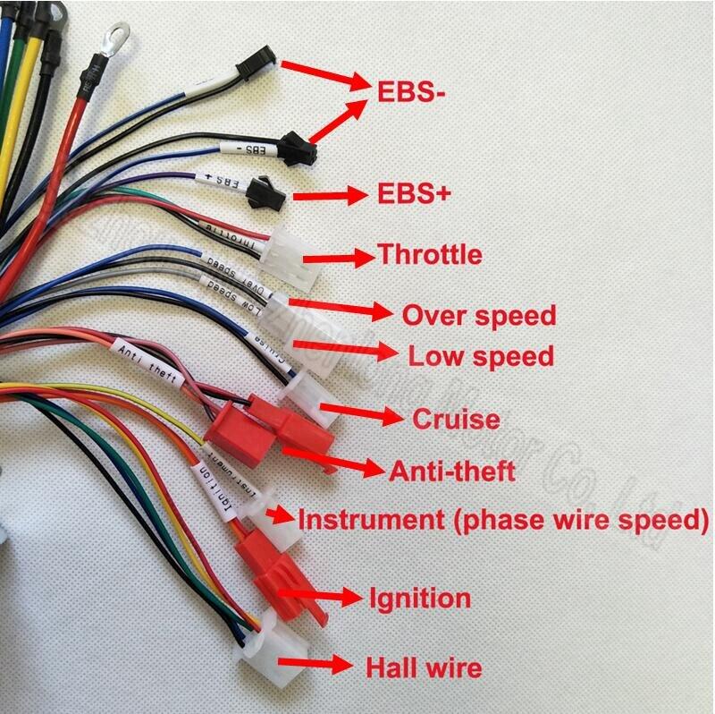 Max aktuelle 50A brushless 1500 watt spannung 48V60v72v 2000 Watt 18 ...