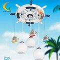 Controle remoto do leme Mediterrâneo lâmpada levou pingente luz do quarto das crianças dos desenhos animados meninos meninas quarto Chanden