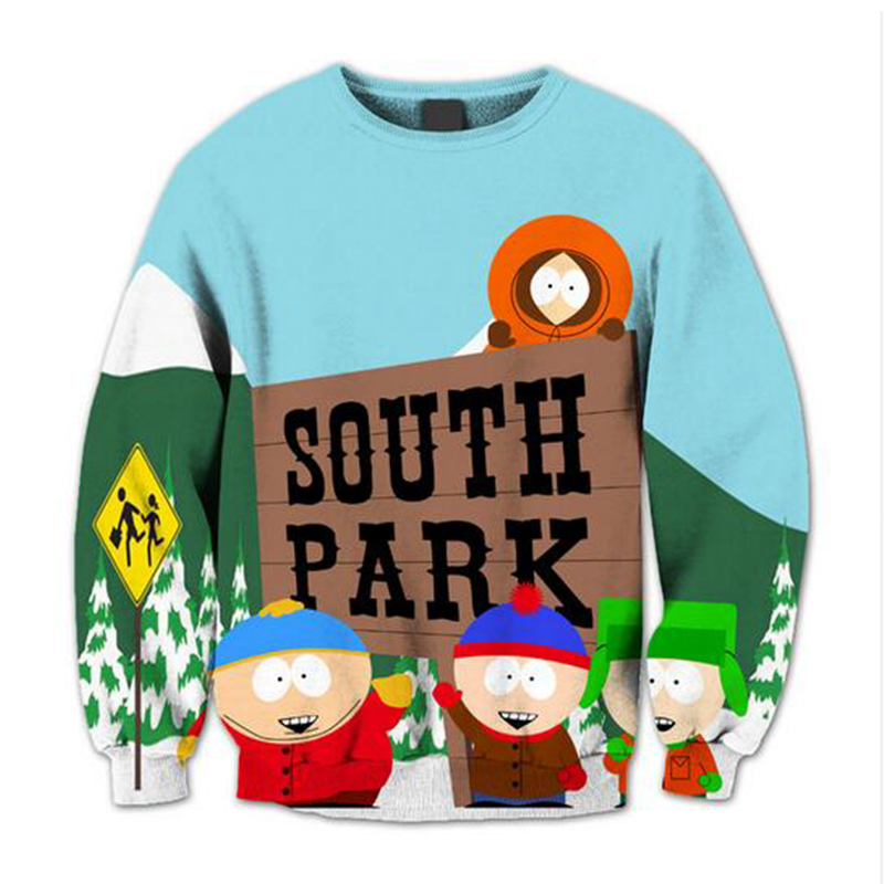 Hoodies Anime South Park 3D New Sweatshirt Fashion Brand New Casual Slim Fit Mens Hoodies Cute Childhood Top Cloth image
