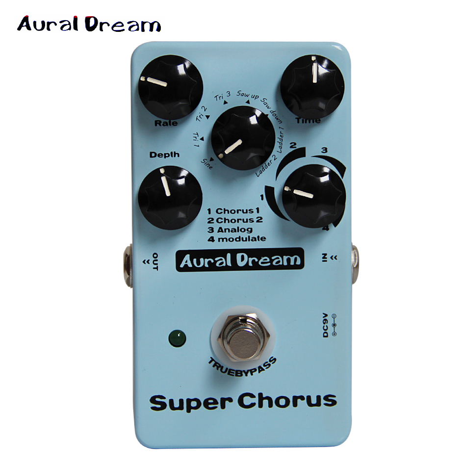 Aural Dream Digital Effect Pedal Super Chorus Five knobs of Digital Chorus guitar pedal mooer reverie chorus digital chorus pedal chorus rotary ambiance shimmer and multiple