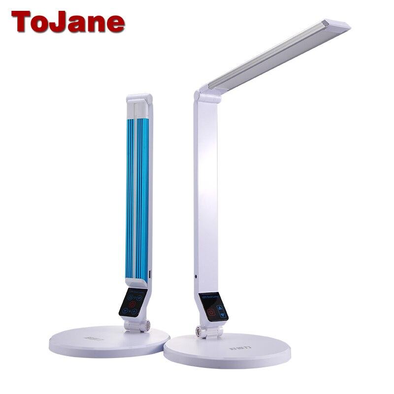 ToJane TG188S led Lampe de Bureau 5-niveau Gradateur USB 10 W Table Led lampe Tactile Contrôle Soins Des Yeux a conduit Table Lumineuse lampe bureau led