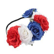 Rose Flower Crown Wedding Festival Headband Hair Garland Headpiece Party Decoration