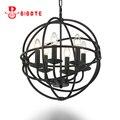 Винтажная железная люстра  черная ретро люстра  Lustre Industriel для спальни  кухни  лофт  подвесные люстры  светильники