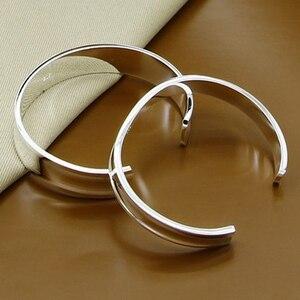 925 silber Schmuck Sets Vintage Öffnen Manschette Armbänder Armreifen Für Frauen Schmuck Valentines Geschenk