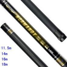 Высокая углерода Мощность рук род 11.5 м 14м 16м 18м телескопическая удочка удочка Ультра легкий и сильный действие рука Полюс рыболовные снасти