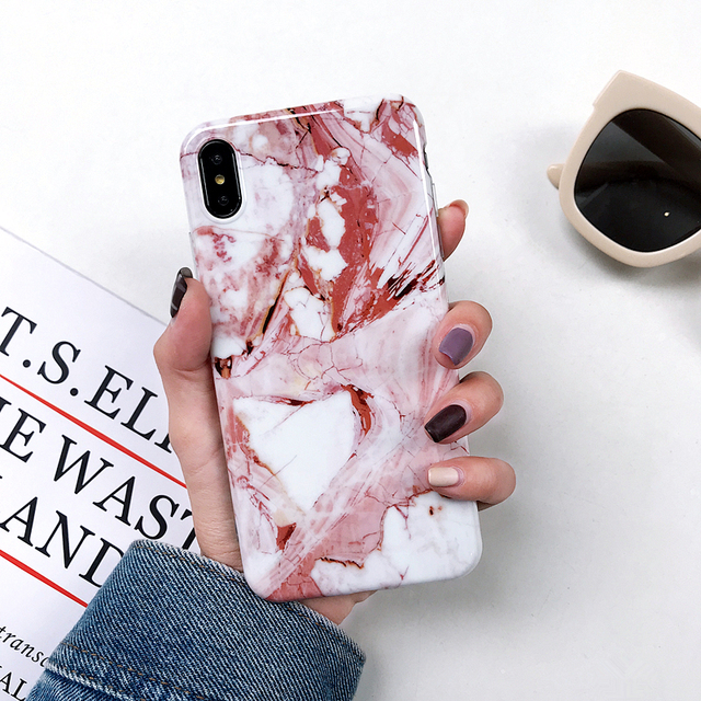 New Luxury Glossy Marble Veins Phone Case For iPhone
