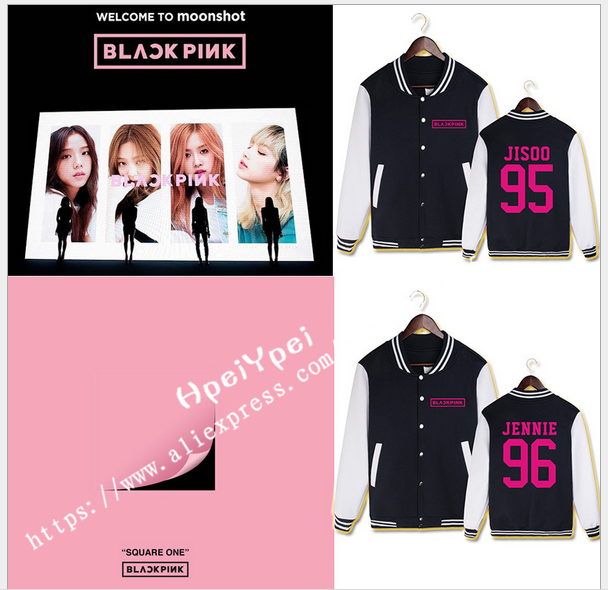 LISA BLACKPINK who surrounding JENNIE PiaoCaiYing ROSE Jin Zhi show with fleece baseball ...