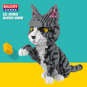 Image 2 - In stock Balody  16038 16036 16037 16039 1 Diamond Building Blocks Brick Pet cat Animal Model Assembly For Children Kids Gifts
