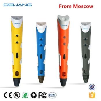 (RU Stock, Fast Ship)DEWANG 3D Printer Pen 3D Pen 200 Meter ABS Filament 3D Printing Pen 3D Pencil for School Gadget DIY Craft