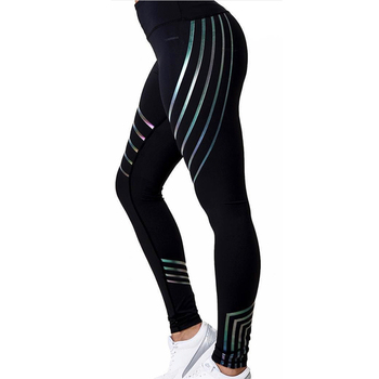 New Women Yoga Pants Fitness Sports Leggings Running Gym Stretch High Waist Breathable Glowing Trousers 1