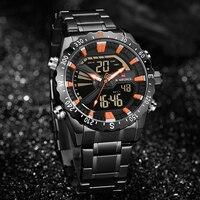 NAVIFORCE Quartz Wristwatches Top Brand Luxury Mens Watches Sport Watch Men Clock Dual Display LED Digital Relogio Masculino