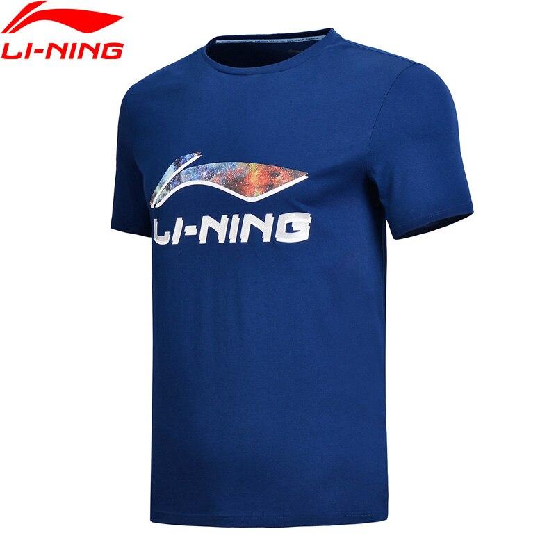 97cff4f08c451 Li-Ning Men The Trend Sports T-Shirt Regular Fit Breathable 63% Cotton 37%  Polyester LiNing Sport Jerseys AHSN193 MTS2751
