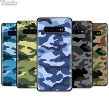 Camouflage Camo military Army Black Silicone Case for Samsung Galaxy S10e S10 S8 S9 Plus S7 A40 A50 A70 Note 8 9 Soft Cover