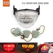 Motorcycle Integrated LED Tail Light Brake Turn Signal Blinker For  Suzuki GSXR1000 GSX-R1000 2005 2006 motorcycle integrated led tail light brake turn signal blinker for suzuki gsxr1300 hayabusa gsx1300r 2008 2013