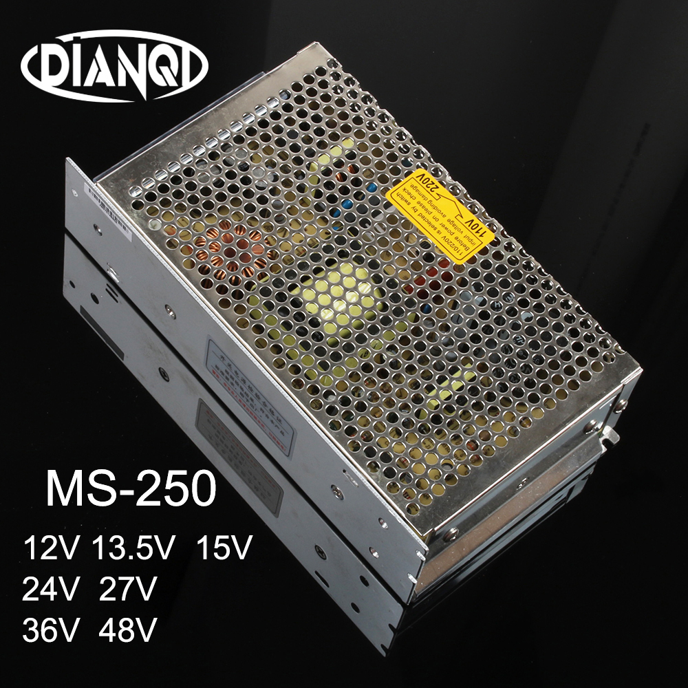 DIANQI MS-250w 12V 13.5V 15V 24V 27V 36V 48V mini size switching power supply unit led ac dc converter MS-250-13.5 MS-250-36 image