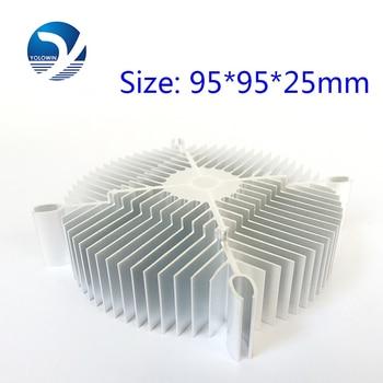 2Pcs/Set  LED Eletronic Heatsink 95*95*25mm Pure Aluminium Heat Sink Radiator For Led Light  Cooler Cooling Accessories YL-0008 4
