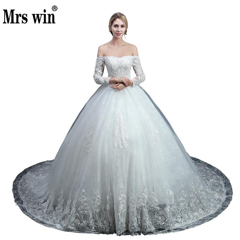 2018 Real Pictures Ball Gown Wedding Dress Vintage Half Sleeve Plus Size Lace Wedding Dress Princess Cap Sleeve Bridal Dress
