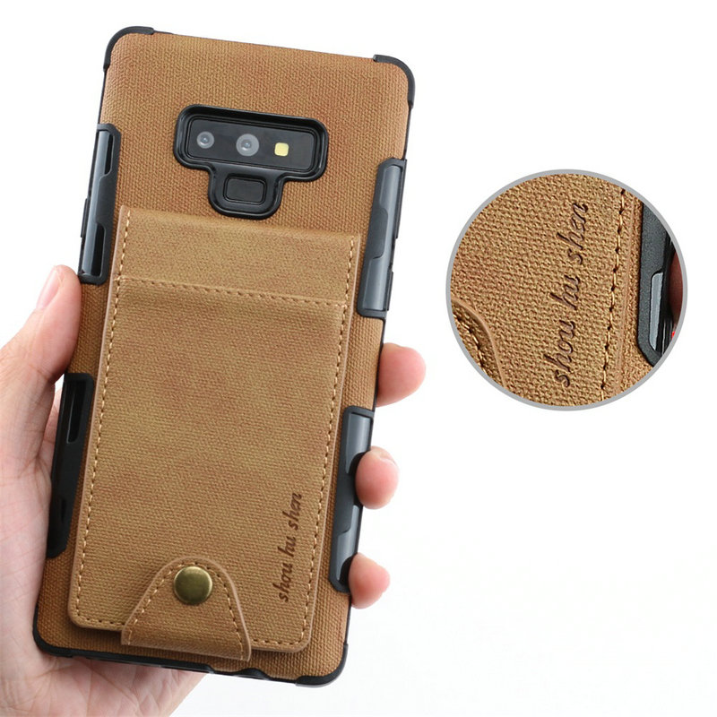 Card Slot For Coque Samsung S10plus Case Samsung S9plus Note9 Case Cloth For Samsung Galaxy S10 S10e E S9 Plus Note 9 Flip Cover