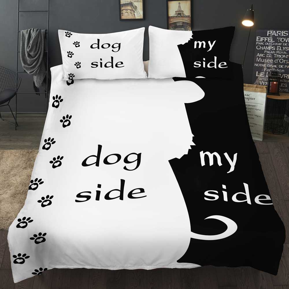 Free Shipping Novelty Gift Funny Dog Side My Side Words Dog Paws