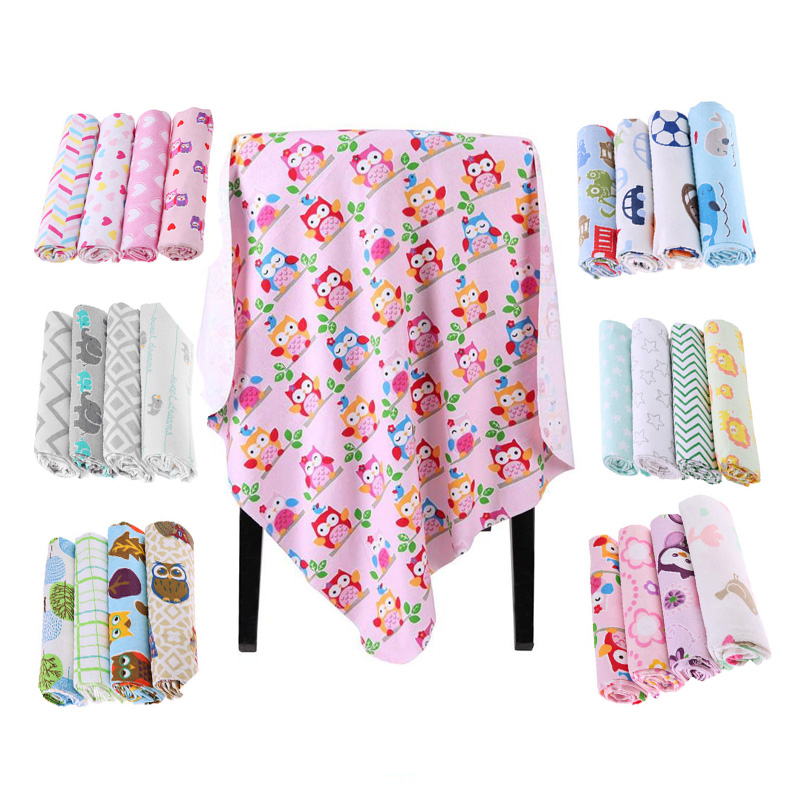 4pcs Muslin Baby Blankets Bedding Infant Swaddle Towel For Newborns Swaddle Blanket cotton flannel receiving baby blanket removable liner baby infant swaddle blanket 100