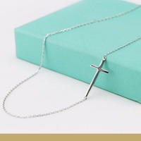 Wholesale Cross Pendant 925 Solid SilverNecklaces Customized Pendant Silver Jewelry for Women