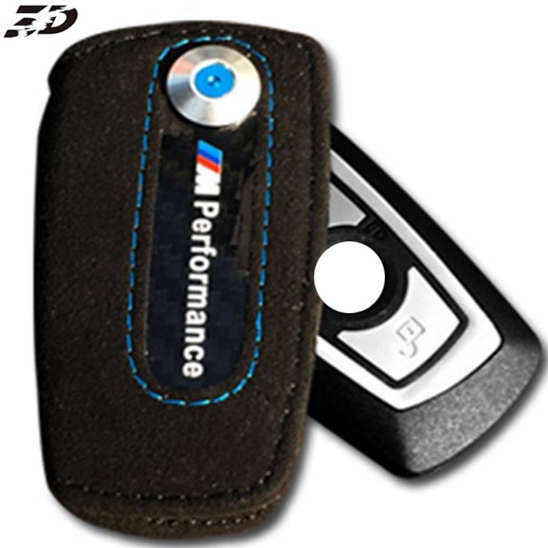 Véritable Housse En Cuir Clé Pour BMW F30 Key Case Cover X1 X3 X5 X6 3 5 Série F10 F30///M Pour Bmw Clé Couverture De Voiture Style