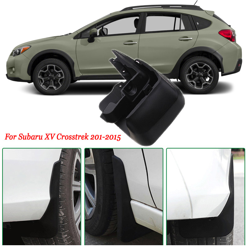 4pcs Premium Heavy Duty Molded Splash Mud Flaps Guards Fenders For Subaru XV Crosstrek 2011-2015  цены