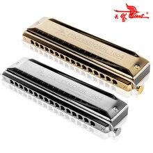 Swan Chromatic Harmonica 16 หลุม 64 โทนสีโทนปากอุปกรณ์ประกอบฉาก Key C Professional Chromatic Harp Musical Instruments SW1664