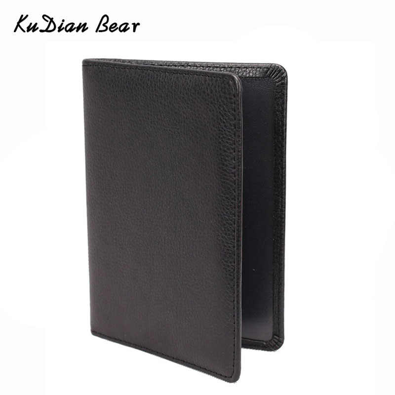 KUDIAN BEER Paspoort Deksel Lederen Paspoorthouder Mannen Reizen Portemonnee Credit Card Holder Cover voor Documenten Case-BIH014 PM49