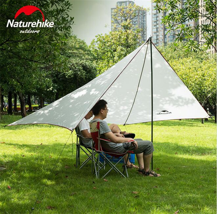 Naturehike Portable Shades Outdoor Tent Camping 3-4 Person Large Family BBQ Tents Waterproof Beach Quick Built Sun Shelter outdoor double layer 10 14 persons camping holiday arbor tent sun canopy canopy tent