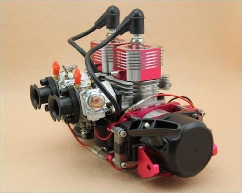 58CC motor de dos cilindros fit RC barco