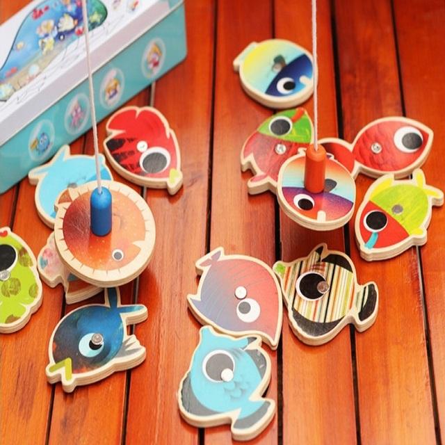 Divertidos Juguetes Para Niños Juego de Pesca con La Familia con caja de juguetes educativos suave unisex bebé 19*7*5 cm PL078