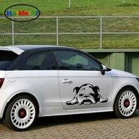 33 Cm X 69 6 Cm English Bulldog Tired Puppy Dog Car Sticker For Cars Side