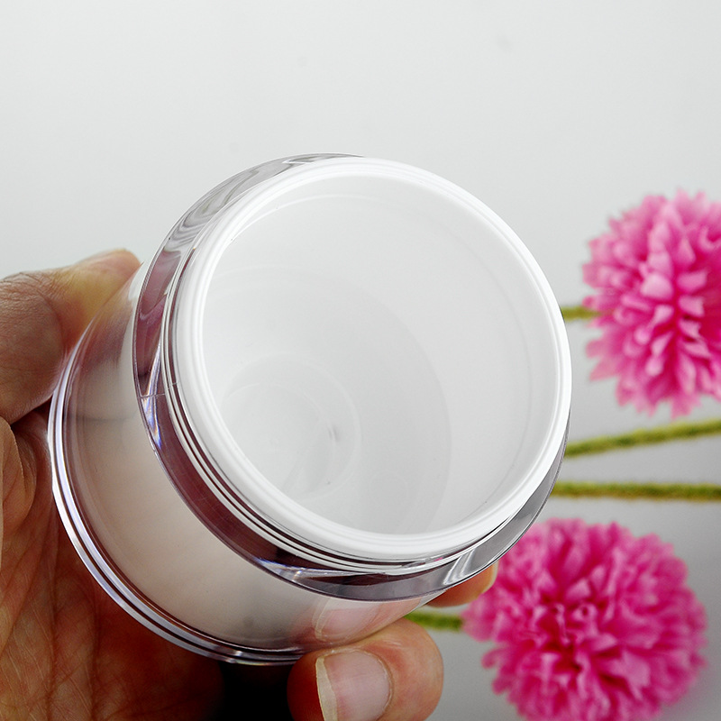 1pcs 50g vacuum cream bottle Vacuum sterile Insulate the air cosmetic jars High grade cosmetic Sub bottle wholesale BQ117 in Tumblers from Home Garden