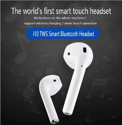 i10 tws Bluetooth Earphones Wireless Bluetooth 5.0 Earbuds Touch control Headphones for Phone  Mobile Android Phones