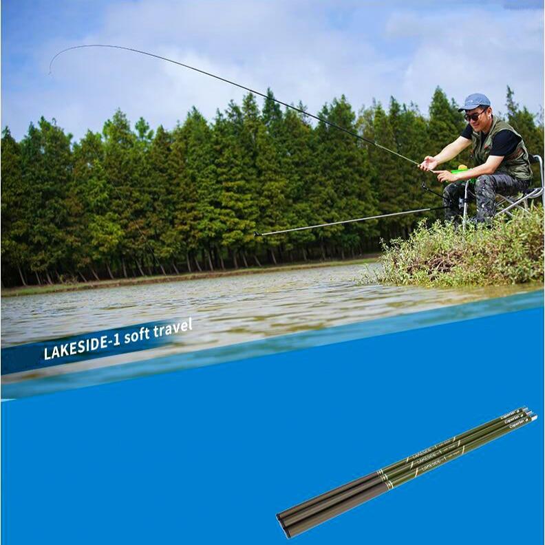 High Strength Carp Fishing Rod Portable Hard Ultra Light Stream Pole 4.5/5.4m 37 Crucian Carp Telescopic Fishing Hand Rod