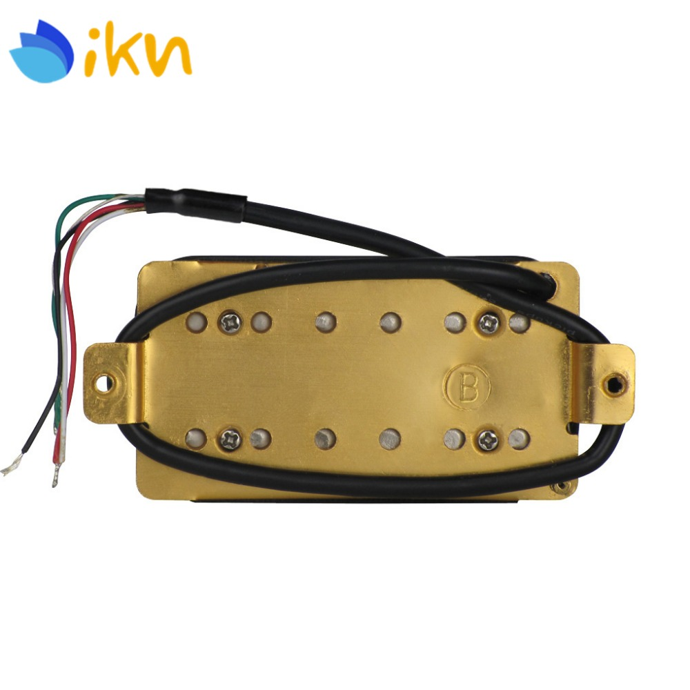 IKN White Electric Guitar Double Coil Humbucker Pickup Guitar Bridge Pickup 52mm Pole Spacing 4 Conductors aliexpress com buy ikn white electric guitar double coil  at edmiracle.co