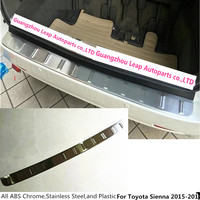 For Toyota Sienna 2015 External Rear Bumper Protect Trim Car Styling Cover Detector Stainless Steel Plate