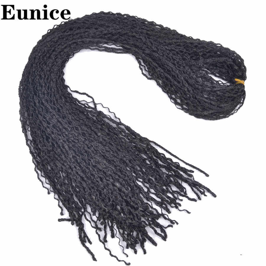 25-32Strands/חבילה 50g זיזי ארוך מתולתל סרוגה צמות Ombre תיבת צמות סינטטי שיער הרחבות זיזי צמות שיער יוניס