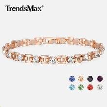 4c4f7c1dcf4b Pulseras de circonita cúbica de 8 colores para mujer 585 pulsera de  eslabones cuadrados de oro