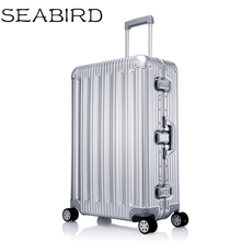 цена на 100% All Aluminium alloy Luggage Hardside Rolling Trolley Luggage travel Suitcase 20 Carry on Luggage 25 29inch Checked Luggage
