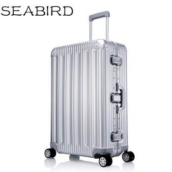 100% All Aluminium alloy Luggage Hardside Rolling Trolley Luggage travel Suitcase 20 Carry on Luggage 25 29inch Checked Luggage фото