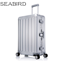 100% All Aluminium alloy Luggage Hardside Rolling Trolley Luggage travel Suitcase 20 Carry on Luggage 25 29inch Checked Luggage