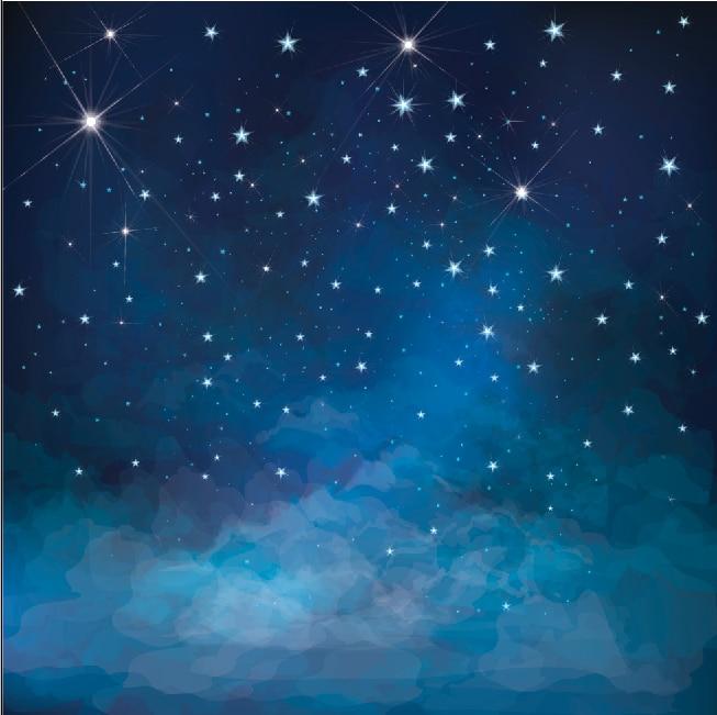 Iphone 5 Falling Snow Wallpaper 10x10ft Dark Blue Starry Sky Sparkles Stars Clouds Custom