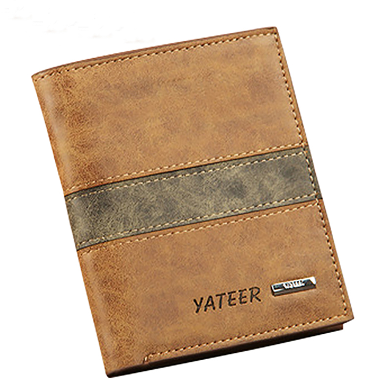 Men s Faux Leather Wallet ID Credit Card Holder Money Purse Clutch Pocket Gift