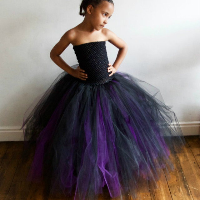 Online Shop Halloween Witch Baby Girls Dress Purple & Black Witch ...