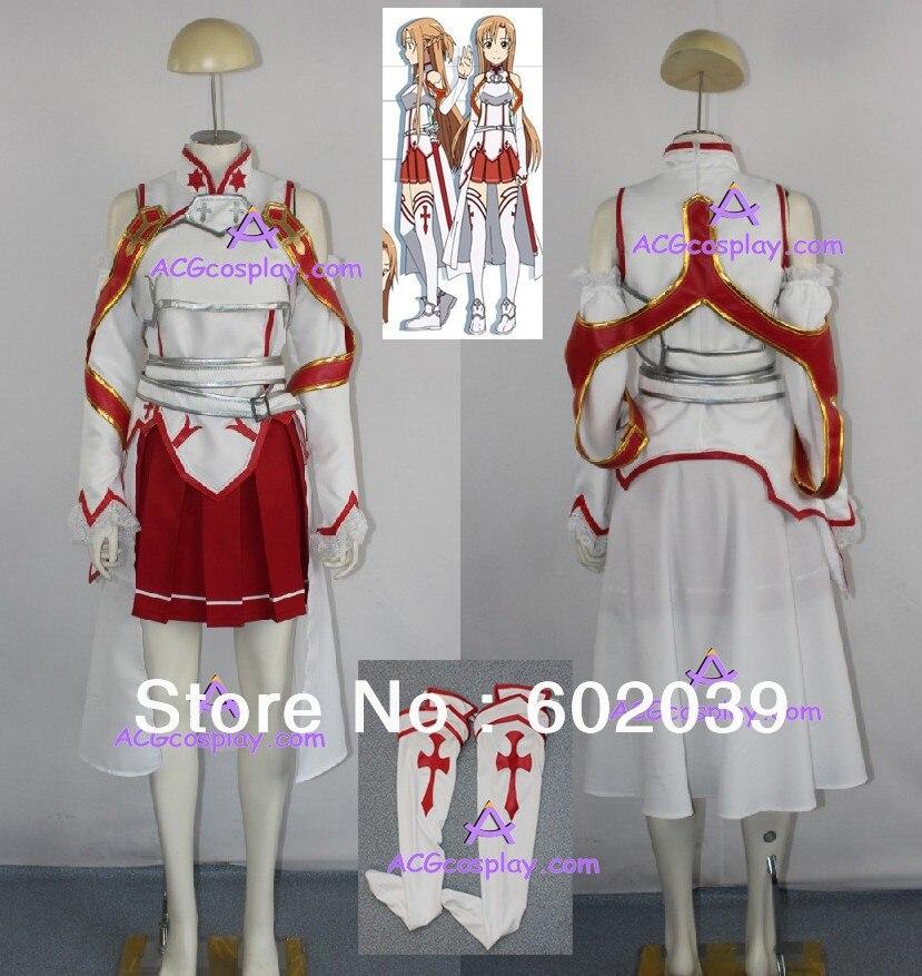 Sword Art Online Asuna Yuuki cosplay kostüüm ACGcosplay hinnatud - Kostüümid - Foto 1