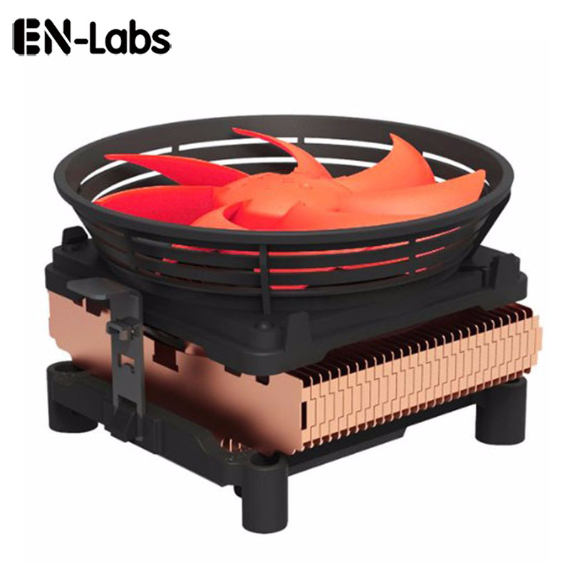 En-Labs Silent CPU Cooler w/ 100mm PWM 4pin Fan for Intel LGA775 /LGA1155 /LGA1156,AMD Socket 754 /939 /AM2 /AM2+ /AM3 /FM1 /FM2 akasa 120mm ultra quiet 4pin pwm cooling fan cpu cooler 4 copper heatpipe radiator for intel lga775 115x 1366 for amd am2 am3